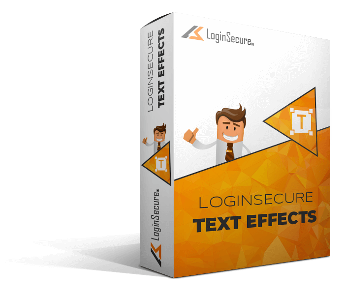 LoginSecure Text Effects