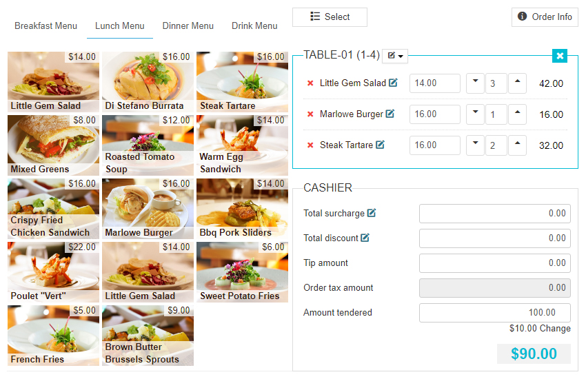 Restaurant Website Lease Tablet and Smartphone POS Integration